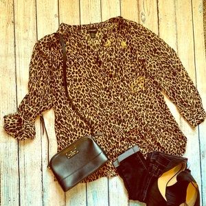 Lane Bryant cheeta print blouse 18/20